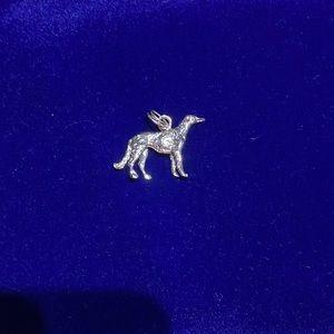 Silver-tone Greyhound Charm 🐕✨